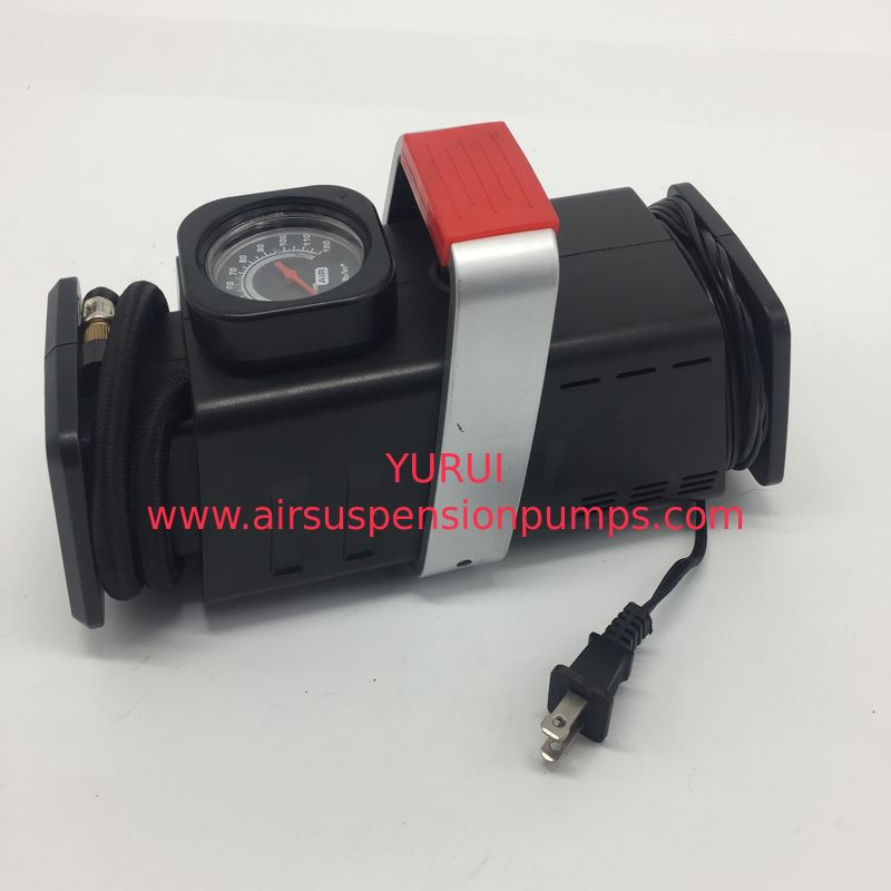 AC DC Two Ways Power Get Car Tire Air Compressor with Gauge , Auto Air Compressor