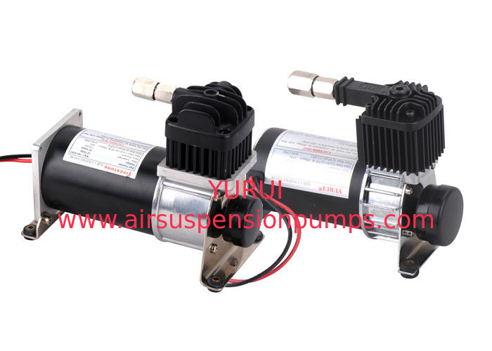 DC12V  Air Ride Suspension Pump Chrome and Black for Truck and Car Tunning