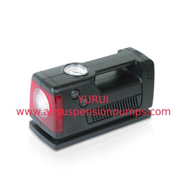 Three In One Car Portable Air Compressor Dc12v 250psi Black Color With Lamp