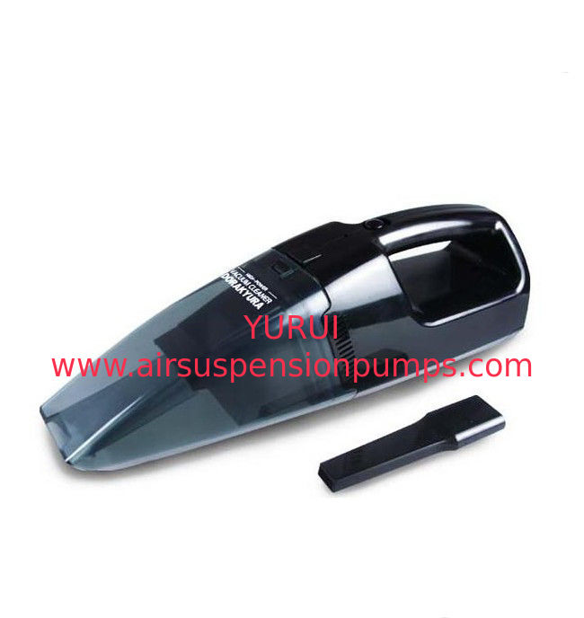 Black Handheld Portable Vacuum Cleaner One Year Warranty With Ce Certification