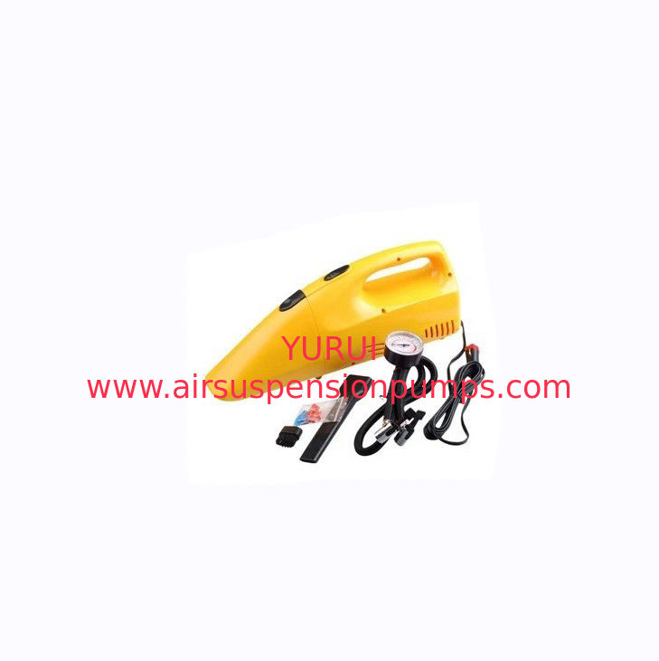 Yellow Portable Car Vacuum Cleaner With 12v Dc Cigarette Lighter 35w - 60w