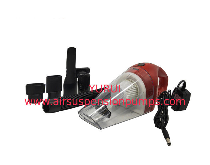 Recordless Portable Car Vacuum Cleaner 12v Dc Red And White Color